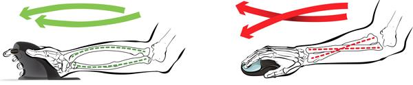 Bonne position de la main sur la souris pour éviter les douleurs