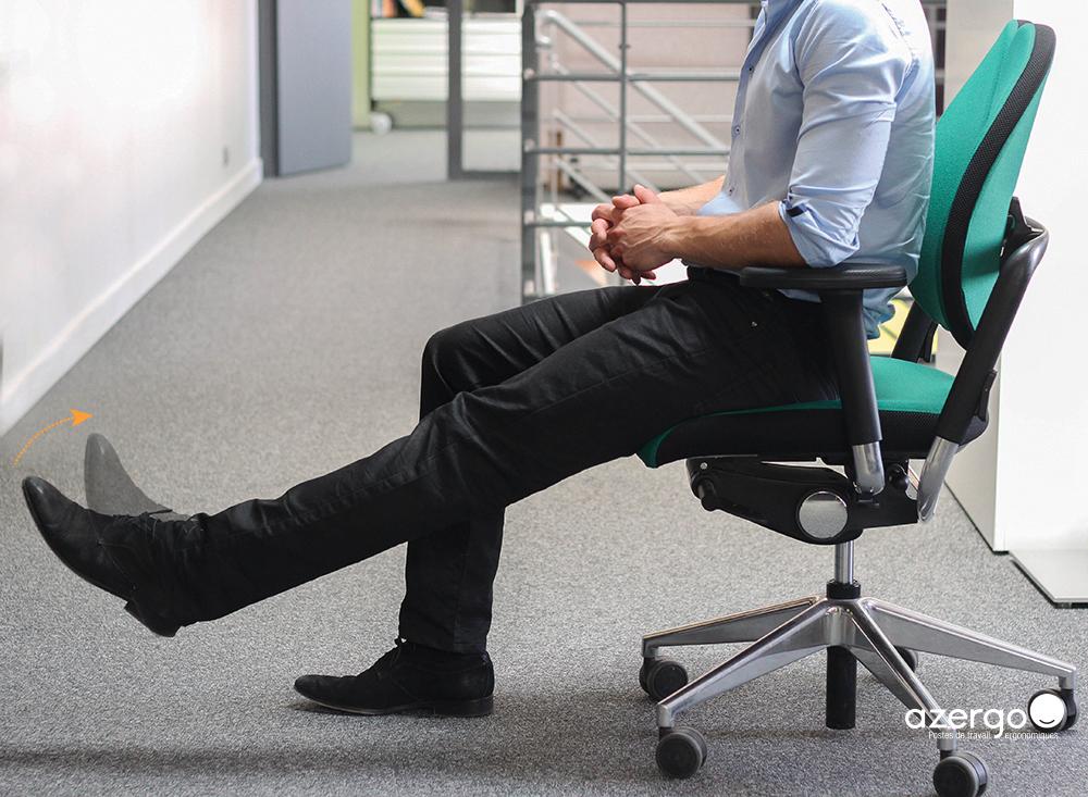 Comment étirer ses jambes au bureau
