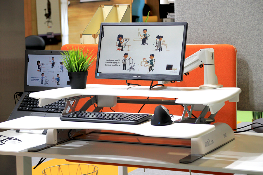 Plateformes de travail assis-debout - Alternance des postures