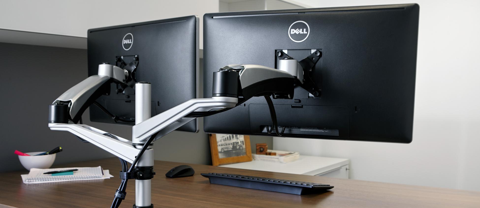 Bras support double écran Dual - Réduire les douleurs des épaules et de la nuque au travail