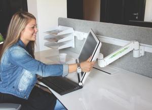 Bras support écran - Santé visuelle au travail