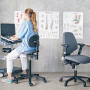 Support Selle - Posture assis-debout au travail - Professionnels de la santé