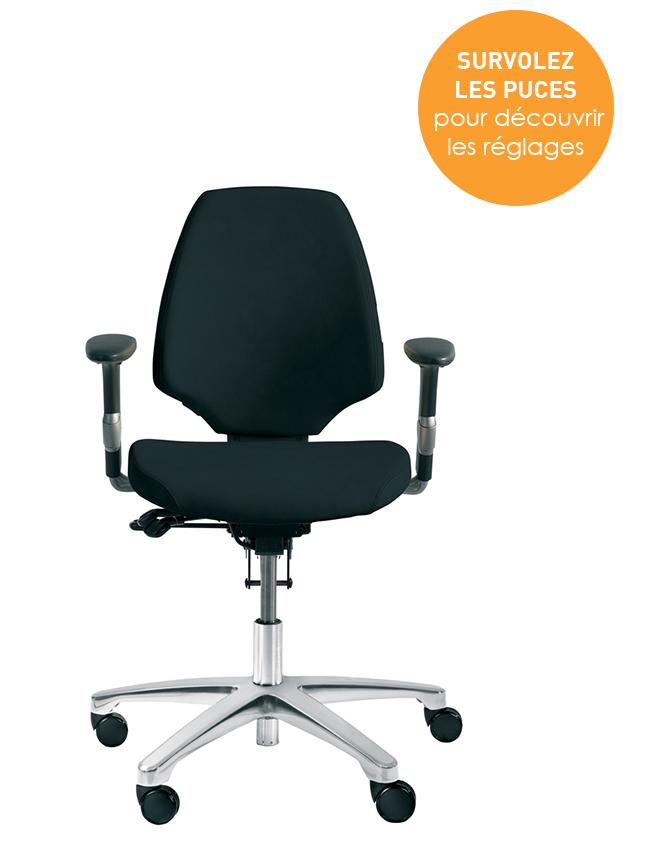 Bien régler sa chaise de bureau Activ 220 pour préserver sa santé au travail