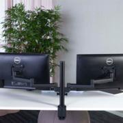 Bras support pour écran ordinateur V4 - Prévention des douleurs aux épaules et cervicales lors du travail sur écran