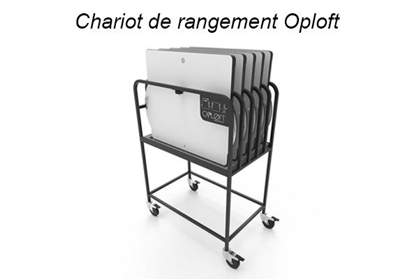 Chariot de rangement Oploft - Ergonomie et bureaux partagés
