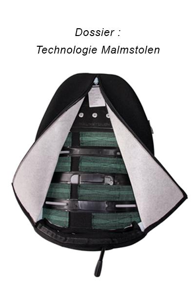 Siège ergonomique confortable - Dossier technologie Malmstolen - Soutien et confort
