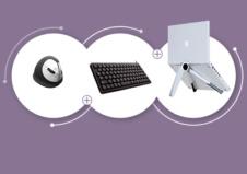 Equipement pour bien télétravailler - Télétravail confortable - Souris ergonomique - Clavier Ergonomique - Support pour ordinateur portable