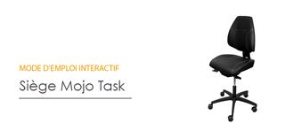 Réglage siège ergonomique - Mojo Task - Mode d'emploi